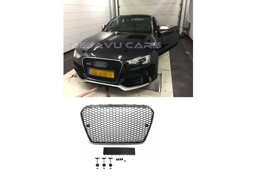 OEM LINE RS5 Look Front Grill Black/Chrome Edition for Audi A5 B8