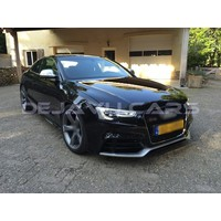 RS5 Look Front Grill Black/Chrome Edition voor Audi A5 B8