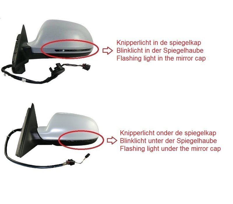 Dynamic LED Side Mirror Turn Signal for Audi A3 A4 A5 A6