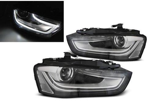 DEPO LED Scheinwerfer Bi Xenon look für Audi A4 B8.5