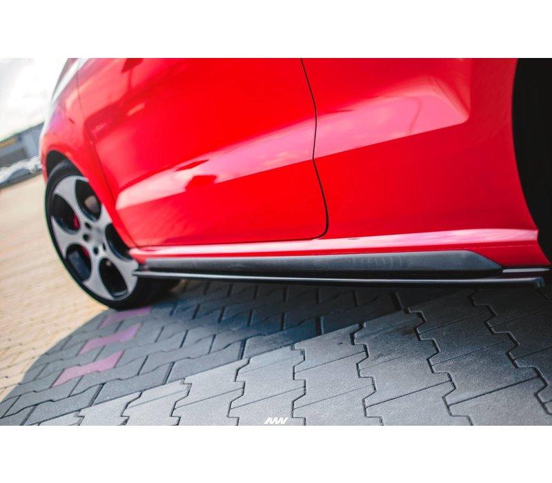 Seitenschweller Diffusor für Volkswagen Polo 6R GTI