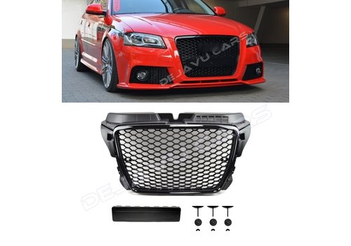 OEM LINE RS3 Look Front Grill Black Edition voor Audi A3 8P