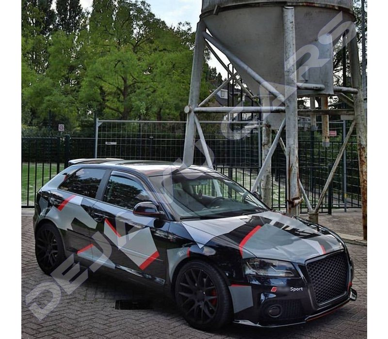 RS3  Look Front Grill Black Edition for Audi A3 8P