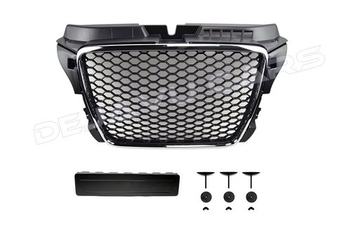 OEM LINE RS3  Look Front Grill Chrome/Black Edition for Audi A3 8P