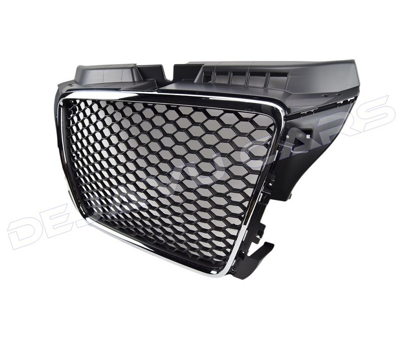 RS3 Look Kühlergrill Chrome/Black Edition für Audi A3 8P