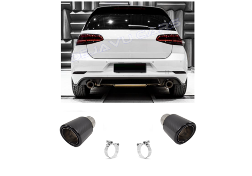 OEM LINE Carbon Exhaust tips for Volkswagen Golf 6 GTI & Golf 7 GTI