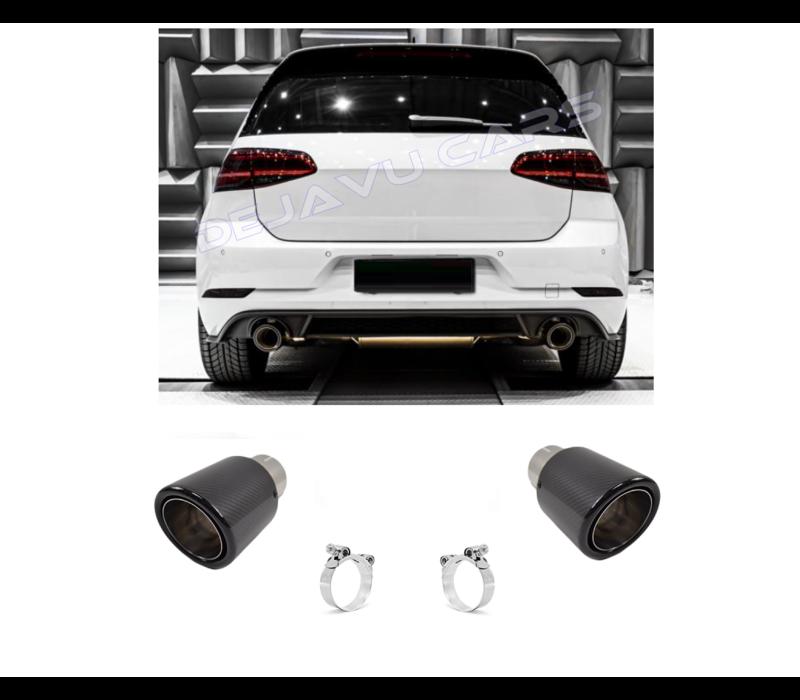 Carbon Exhaust tips for Volkswagen Golf 6 GTI & Golf 7 GTI