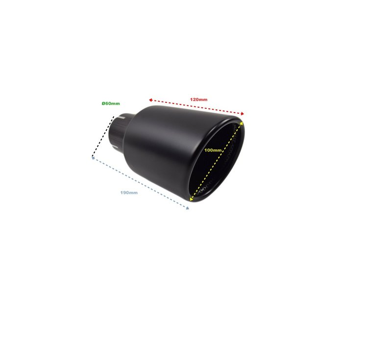 Black Exhaust tips for Volkswagen Golf 6 GTI & Golf 7 GTI
