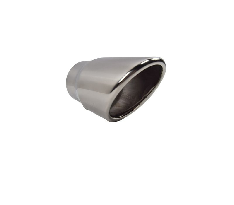 Sport Look Exhaust tips 100mm Chrome round oblique for Audi Q7 4L