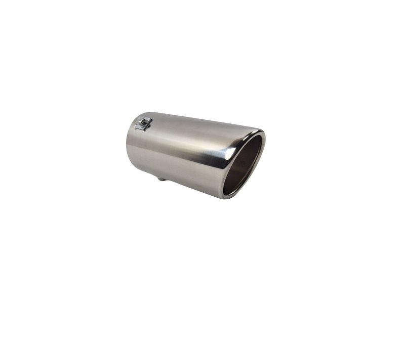Universal Sport Look Exhaust tips 76mm Chrome round oblique