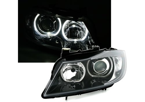 DEPO Xenon look Headlights with LED Angel Eyes for BMW 3 Series E90 / E91