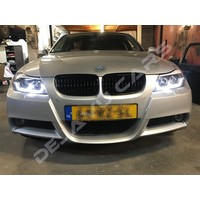 Xenon look Headlights with 3D LED Angel Eyes for BMW 3 Series E90 / E91