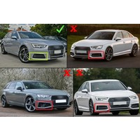 RS4 Look ACC Cover für Audi A4 B9