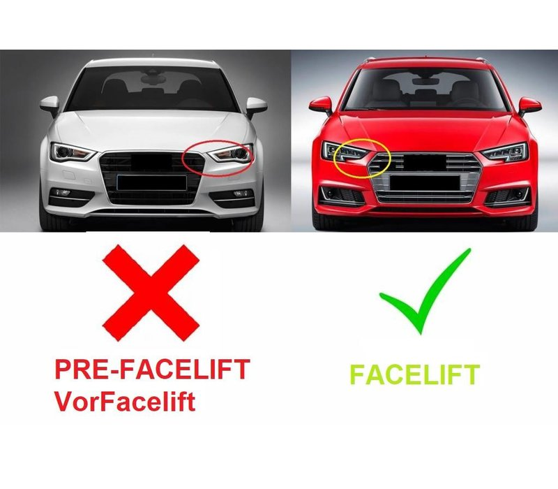 RS3 Look Front Grill voor Audi A3 8V met ACC