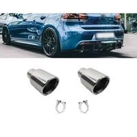 Chrome Auspuff Endrohr für Volkswagen Golf 6 R20 & Golf 5 R32