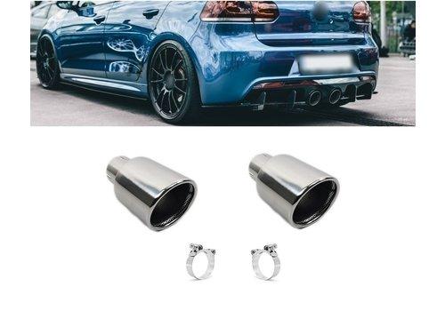OEM LINE Chrome Exhaust tips for Volkswagen Golf 6 R20 & Golf 5 R32