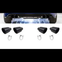 Black Exhaust tips for Volkswagen Golf 7 R
