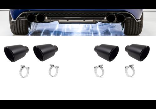 OEM LINE Black Exhaust tips for Volkswagen Golf 7 R