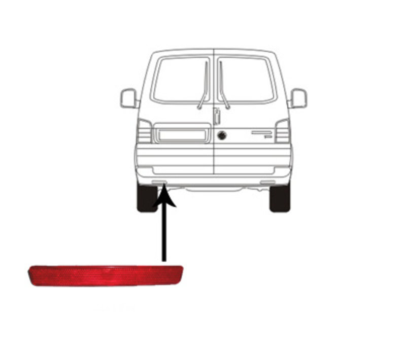 Achterbumper voor Volkswagen Transporter T5