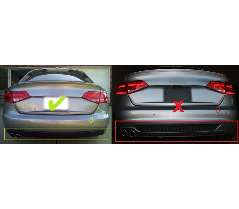 S line Look Diffusor V.1 für Audi A4 B8