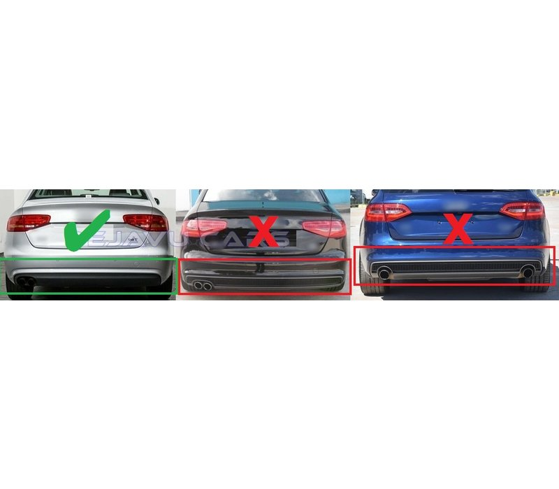S line Look Diffuser V.2 voor Audi A4 B8.5 Facelift
