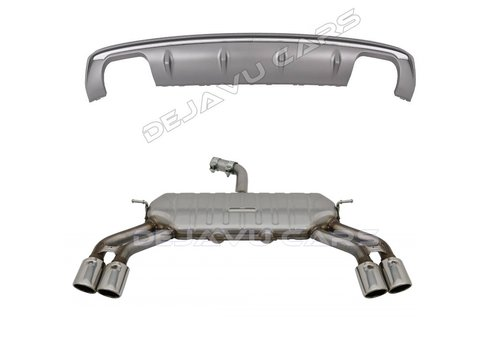 OEM LINE® S3 Look Diffuser + Exhaust system for Audi A3 8V