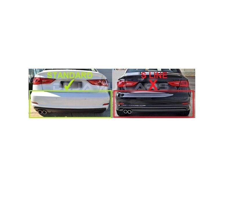 S3 Look Diffuser + Sport Uitlaat systeem voor Audi A3 8V