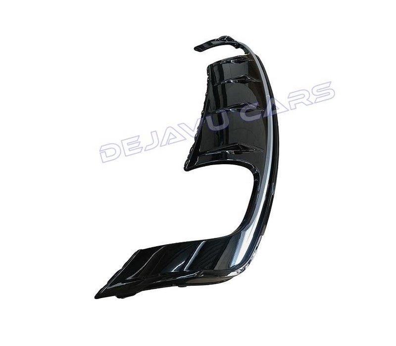S3 Look Diffuser Black Edition + Sport Uitlaat systeem voor Audi A3 8V