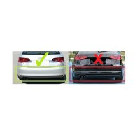 S3 Look Diffusor + Auspuffanlage für Audi A3 8V Hatchback / Sportback