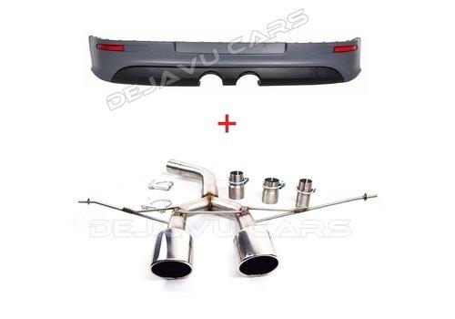 OEM LINE® R32 Look Rear Bumper + Sport Exhaust System for Volkswagen Golf 5