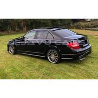 Glans zwart C63 AMG Look Achterklep spoiler lip voor Mercedes Benz C-Klasse W204