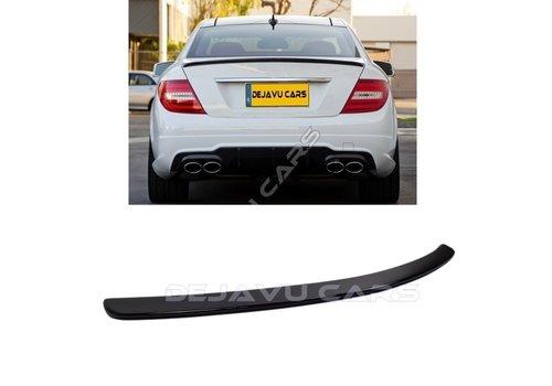 OEM LINE Glans zwart C63 AMG Look Achterklep spoiler lip voor Mercedes Benz C-Klasse W204