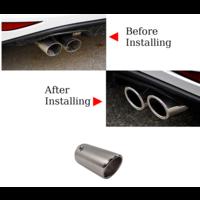 Sport Look Exhaust tips 76mm Chrome round oblique for Audi & Volkswagen