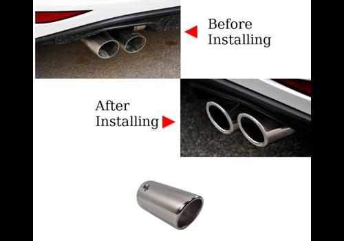 OEM LINE Sport Look Exhaust tips 76mm Chrome round oblique for Audi & Volkswagen