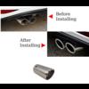 OEM LINE® Universeel Sport Look Uitlaat sierstuk 76mm Chroom rond schuin