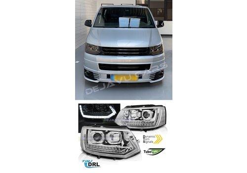 OEM LINE® Xenon Look Dynamic LED Headlights for Volkswagen Transporter T5
