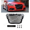 OEM LINE RS3 Look Front Grill Hoogglans zwart Black Edition voor Audi A3 8P