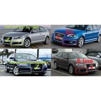 RS Look Nebelscheinwerfer Blenden für Audi A3 8P Facelift