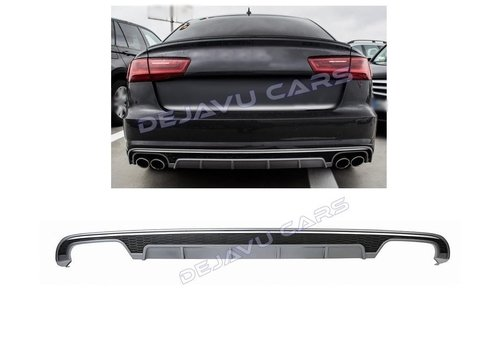OEM LINE S6 Look Diffuser for Audi A6 C7.5 Facelift