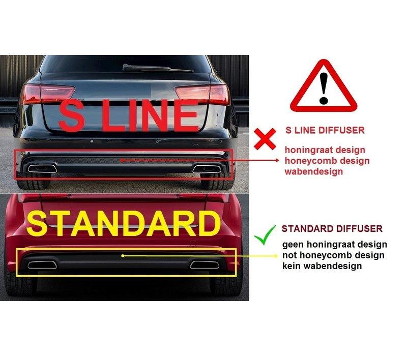 RS6 Look Diffuser voor Audi A6 C7.5 Facelift