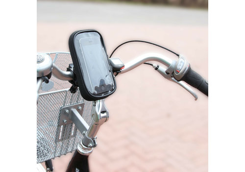 OEM LINE Bicycle Handlebar Smartphone Mobile Phone Navi Bag Holder Rain Cover 360°