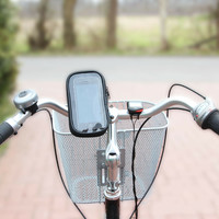 Fietsstuur smartphone mobiele telefoon navigatie tas houder regenhoes 360 °