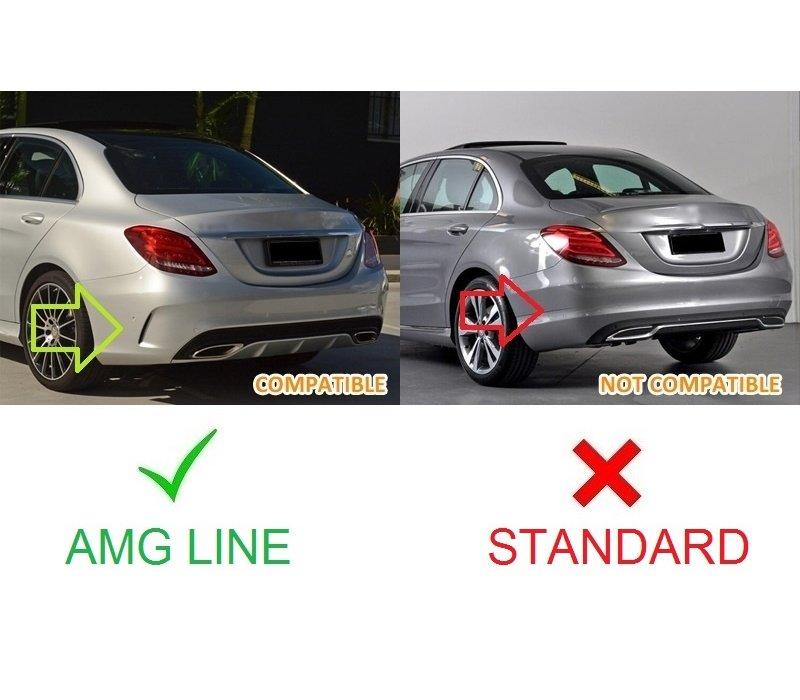 C63S  AMG Look Diffuser voor Mercedes Benz C-Klasse W205 / S205