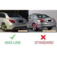 C43 AMG Look Diffuser voor Mercedes Benz C-Klasse W205 / S205