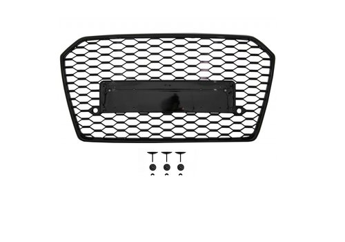 OEM LINE RS6 Look Front Grill Black Edition voor Audi A6 C7.5 Facelift