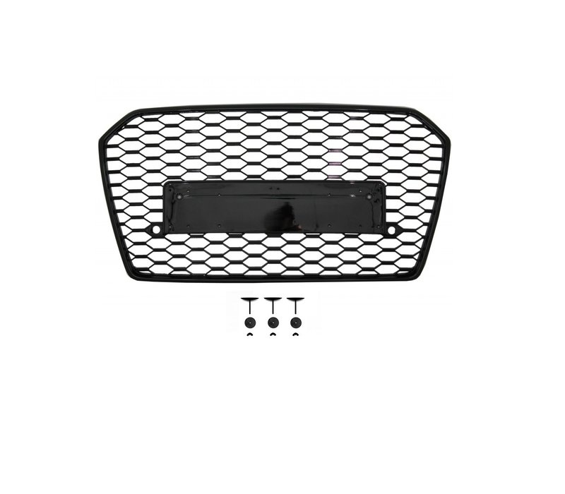 RS6 Look Front Grill Black Edition for Audi A6 C7.5 Facelift