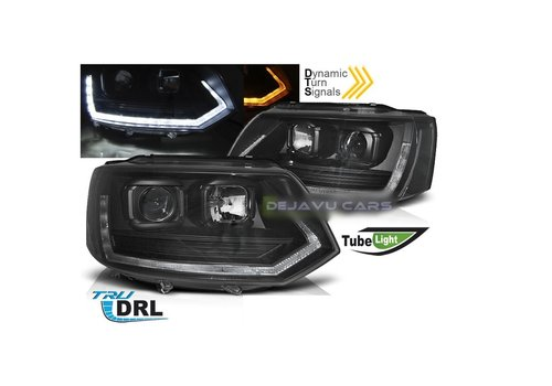 OEM LINE® T6 Xenon Look Dynamic LED Headlights for Volkswagen Transporter T5