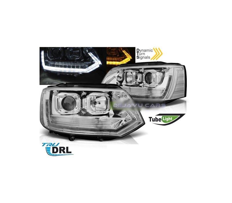 T6 Xenon Look Dynamic LED Headlights for Volkswagen Transporter T5