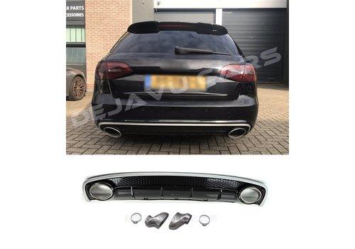 OEM LINE RS4 Look Diffuser voor Audi A4 B8.5