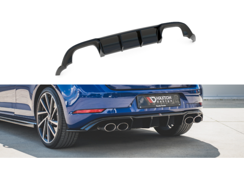 Maxton Design Aggressive Diffuser for Volkswagen Golf 7.5 Facelift / R / R line / GTI / GTD
